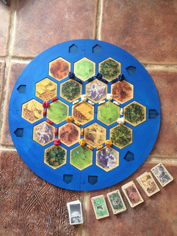 4 Player Settlers Of Catan Frame Board Splits Into 4 Parts Etsy