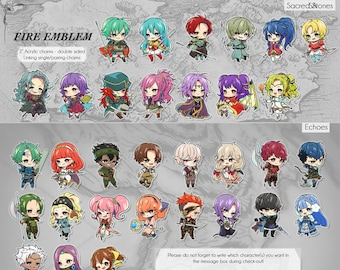 "Fire Emblem 2"" Charms (100+ characters) [pre-order ends 6/24]"