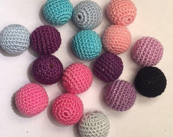 crochet 20 mm beads