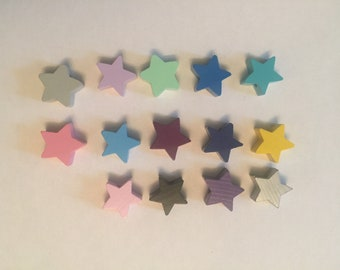 Set of 2 beads wood star