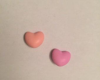 silicone heart bead