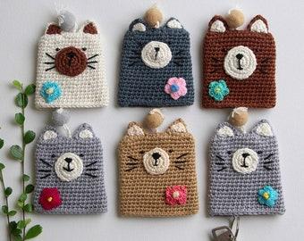 Crochet Cat Keychain Etsy