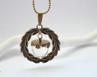 Bronze medallion pendant Kit with globe