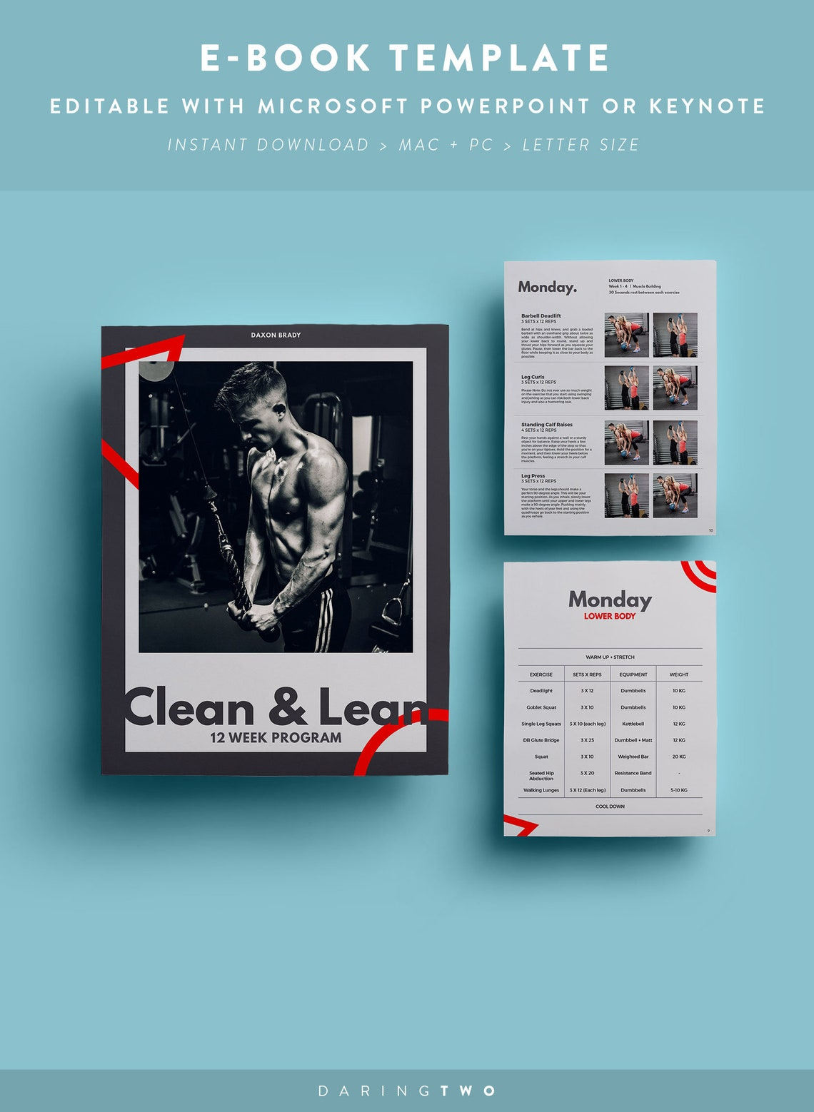 F3 Ebook Template // 16 Pages  Fully Editable  Customizable image 0