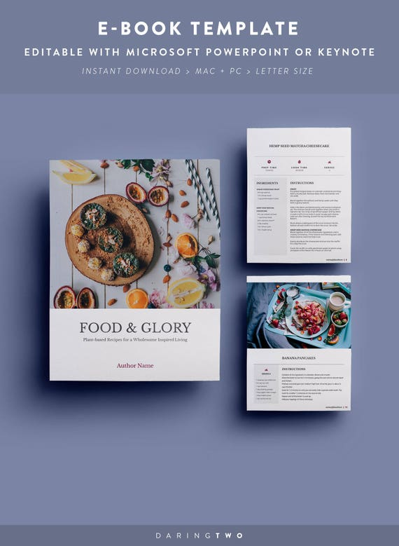 R1 Recipe Ebook Template 16 Pages Fully Editable Etsy
