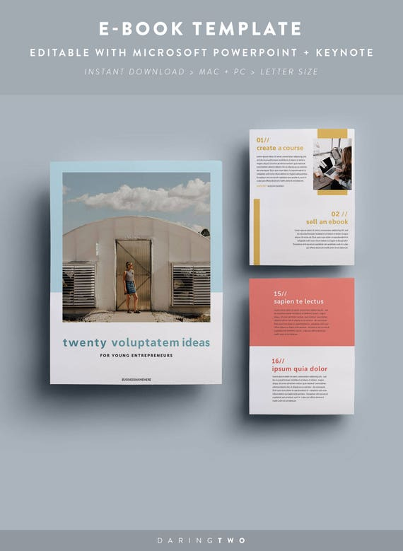 C1 Ebook Template 16 Pages Fully Editable Customizable Etsy