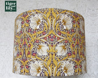 Mustard Yellow Pimpernel William Morris Lampshade - Available in 3 sizes