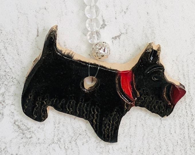 Handmade Ceramic Scottie Dog, Scottish Highland Terrier, Love Dogs, Clay Black Dog, Handmade Pottery Dog Terriers, Woof, Pets, Hounds.