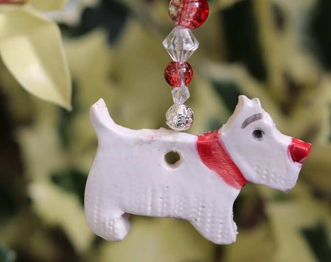 West Highland Terrier, Westie, Ornament, Pooch, Pet Friend, Pottery Dog, Hanging Decor, Home Decoration, Ceramic, Home Interior, Love Dogs.