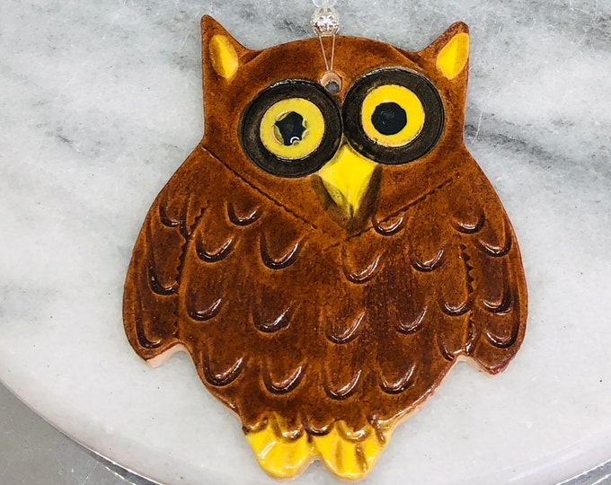 Owl, Handmade Pottery Ornament, Bird, Nature, Home Decoration, Gift for Her, Him, Gifts for Men, Birthday, Anniversary, Mothers Day, Easter.