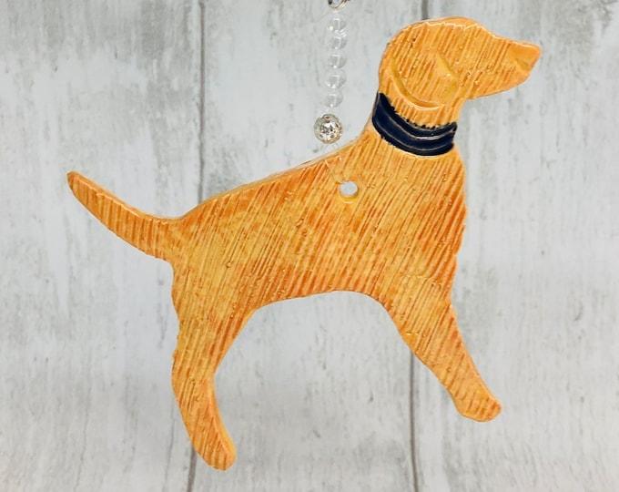 Handmade Dog Ornament, Ceramic Dogs, Love Labrador Dogs, Golden Retriever, Pottery Woof, Clay, Hounds, Ceramics, Home Decoration.