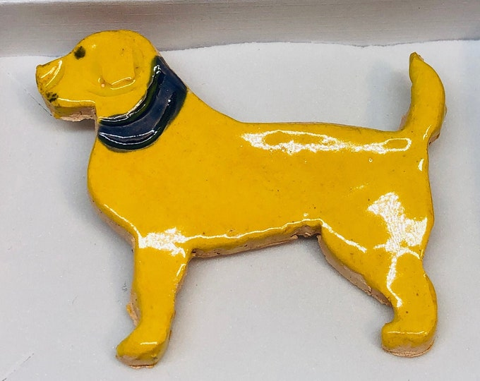 Labrador Brooch, Badge, Pin, Love Dogs, Dog, Pet, Ceramics, Handmade Pottery, Birthday, Anniversary, Gift for Her, Him, Mothers Day, Easter.