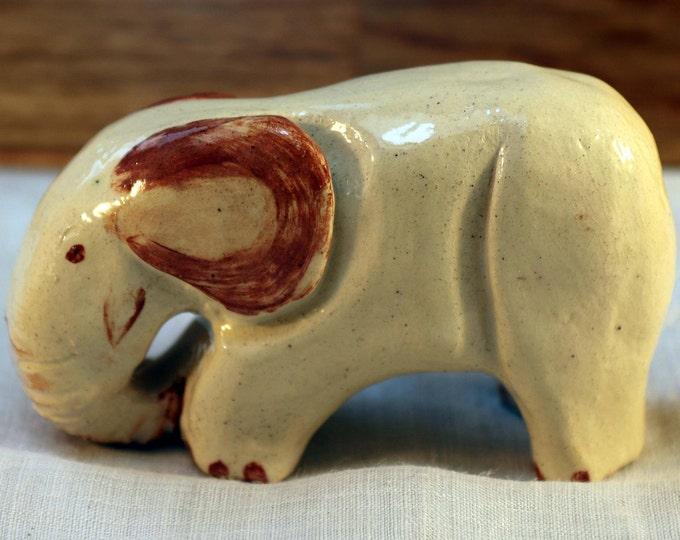 Ellie the Elephant, Miniature Pottery Elephant, Love Elephants, Cute Animals, Ceramic Sculpture, Collectible,  Handmade Mini Clay Art.