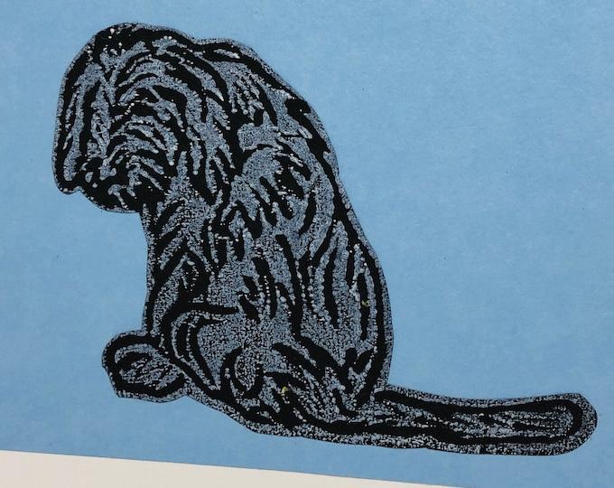 Vizsla Dog Hand Printed Card, Handmade Greetings Card, Love Dogs, Birthday Card, Anniversary, Hand printed Cards, Pets.