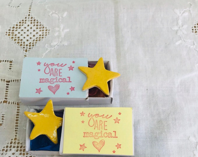 Gold Star Brooch, Yellow Star Reward, Well Done, You are a Star, Bridesmaids, Superstar, Thank you. Love You, Gift for Her, Gift for Him.