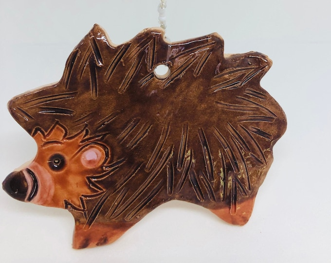 Hedgehog, Hoglet, Love Hedgehogs,  Handmade Pottery Ornament, Birthday, Anniversary, Girlfriend, Gift for her, Easter, Fathers Day.