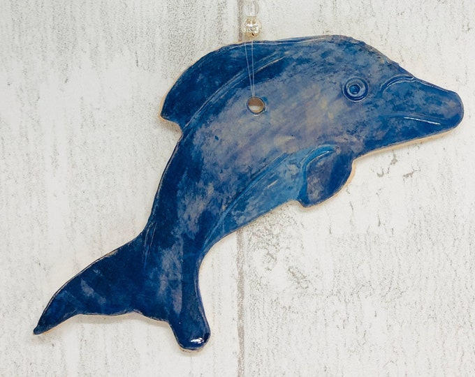 Blue Dolphin, Handmade Ornament, Love Dolphins, Sea, Birthday, Anniversary, Gift for her, Him, Love Dolphins, Easter, Fathers Day Gift