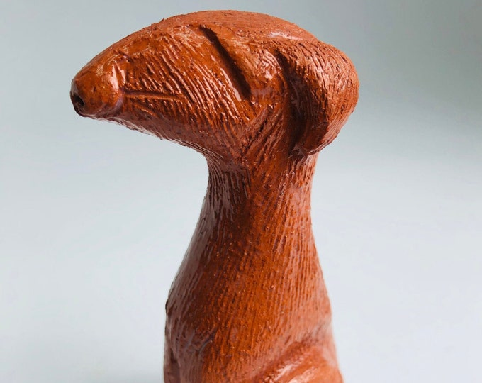 Dogs, Hound, Greyhound, Lurcher, Woof, Pooch, Dog, Miniature, Ornament, Figurine, Pottery, Gift for her, him, Birthday, Easter, Fathers Day.