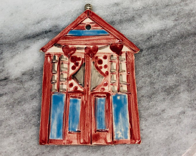 Beach Hut Ornament, Gift for Her, Him, Love Beach Huts, Seaside, United Kingdom, Birthday, Anniversary, Seaside, Mothers Day, Easter.