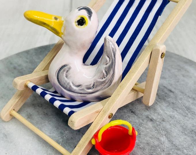 Seagull Pottery Ornament, Bird, Fun Xmas Gifts, Bird, Gift for Her, Him, Boyfriend, Husband, Girlfriend, Anniversary, Birthday, Christmas.