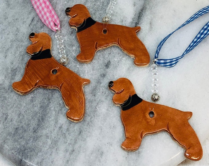 Spaniel Dog Ornament, Spaniels, Love Dogs, Brown Dog, Pet, Birthday, Anniversary, Mothers Day, Gift for Her, Him, Easter, Letterbox Gifts.