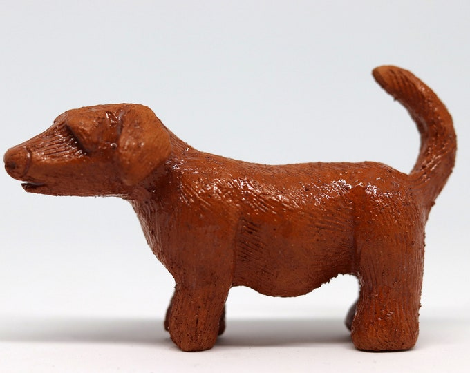 Miniature Doggy Pottery Hound called Pip, made with terracotta clay. Dog, Daxie, Puppy, Love Dogs, Mini Pooch, Fur Baby, Pet Friend, Terrier