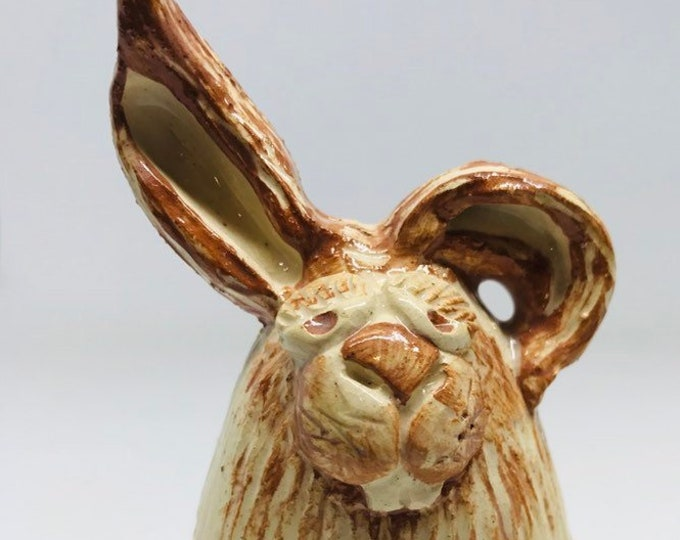 Easter Bunny Rabbit. Easter, Handmade, Pottery, Rabbit, Anniversary, Birthday, Mothers Day, gift for her, Collectible, Pottery, Miniature.