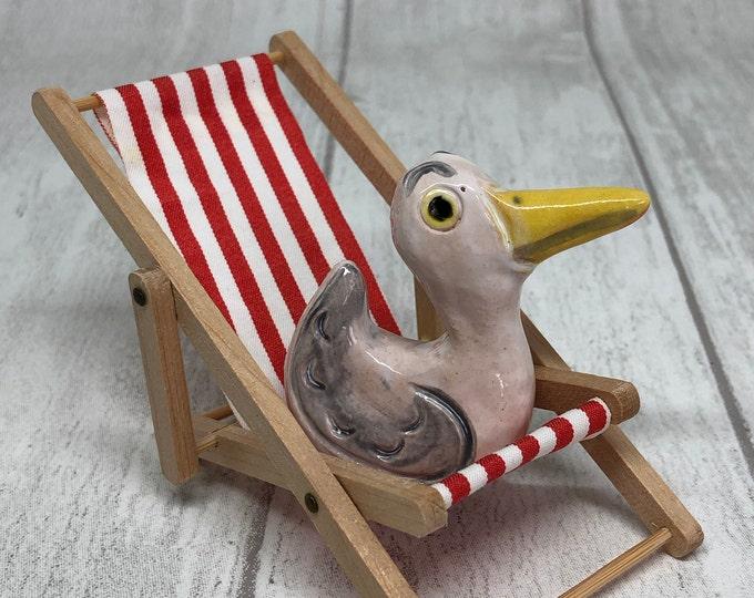 Fun Christmas Gift, Seagull Pottery Fun Ornament, Funny Mini Bird, Anniversary, Birthday, Gift for her, Gift for him, Husband, Boyfriend.