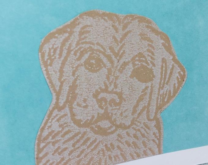 Dog Hand Printed Card, Handmade Greetings Card, Labrador, Golden Retriever, Love Dogs, Birthday, Anniversary, Fathers Day Cards.