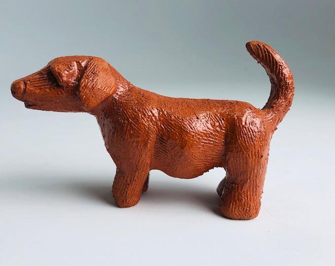 Handmade Ceramic Dachshund, Pip Dog Pottery Figurine, Ceramic Sculpture, Ceramics Ornament, Pet Friend, Pooch, Gift for her, him.