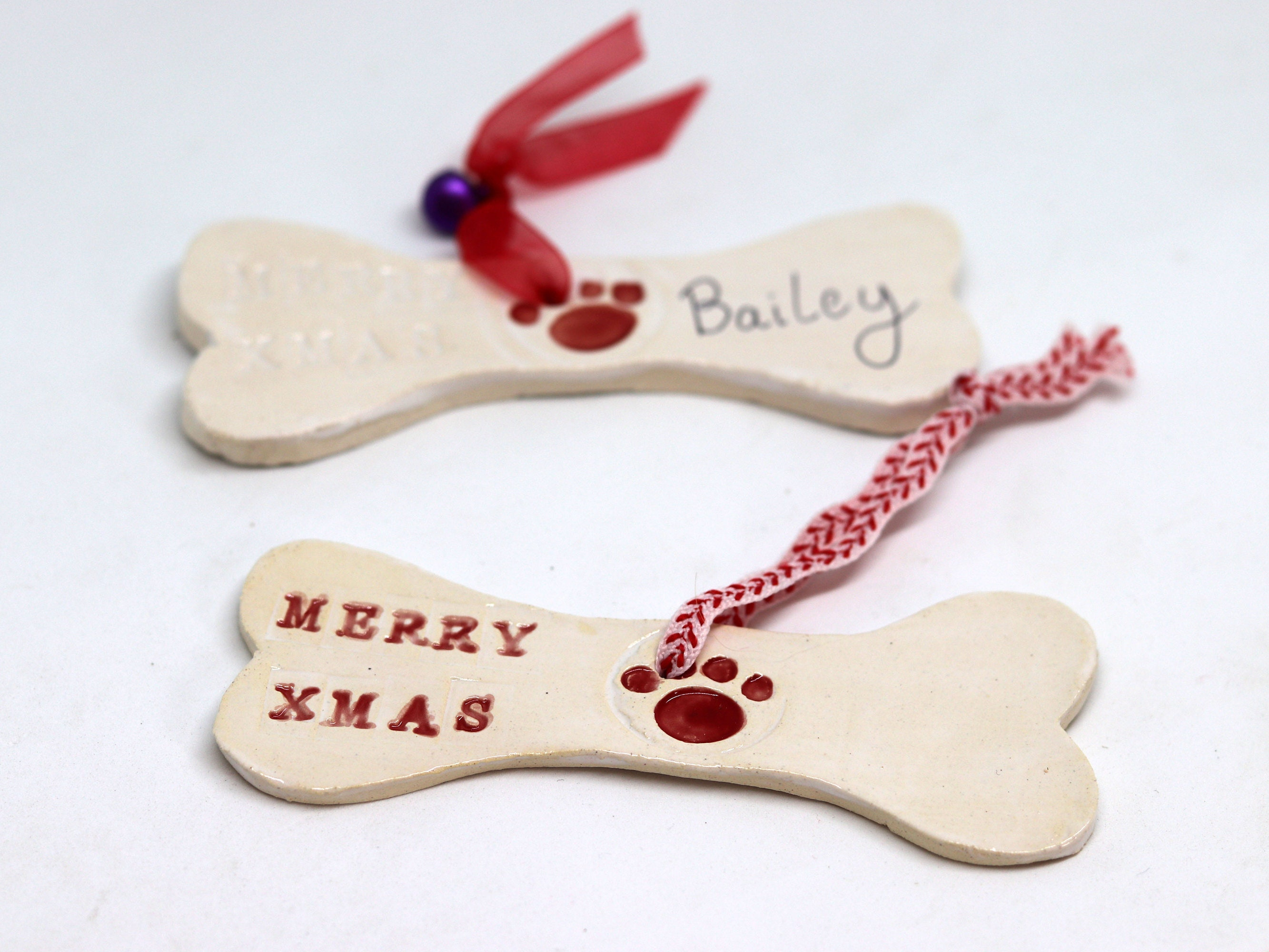 merry christmas dog bone xmas tree decoration personalise your dog gift with your dogs name for your home decor to help say merry christmas - How Do You Say Merry Christmas In Australia