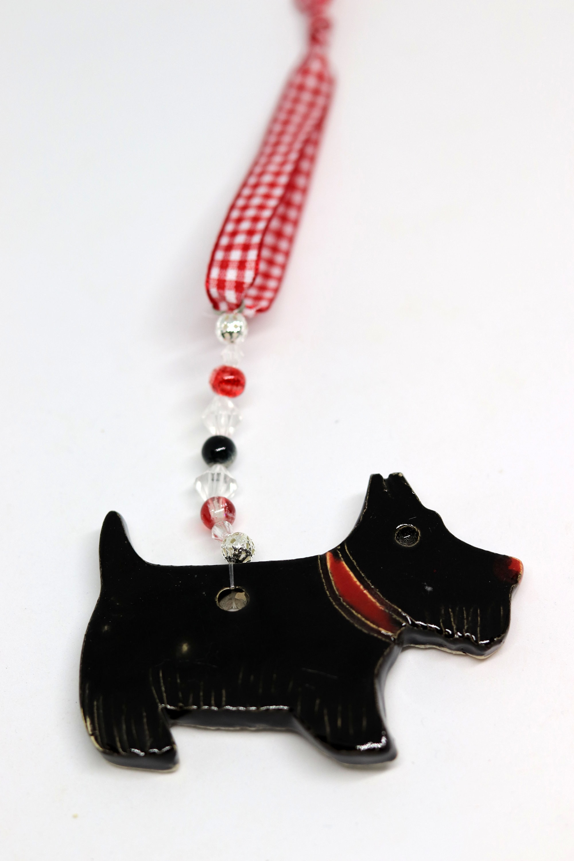 Scottie Dog Ceramic Pooch, Scottish Highland Terrier, Hanging ...