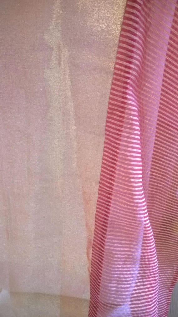 Coupon de tissu pour rideaux en voile orange 203 x 110 etsy for Rideaux en voile