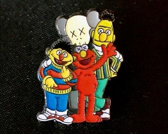 Lapel Pin BAPE x Sesame Street x KAWS A Bathing Ape