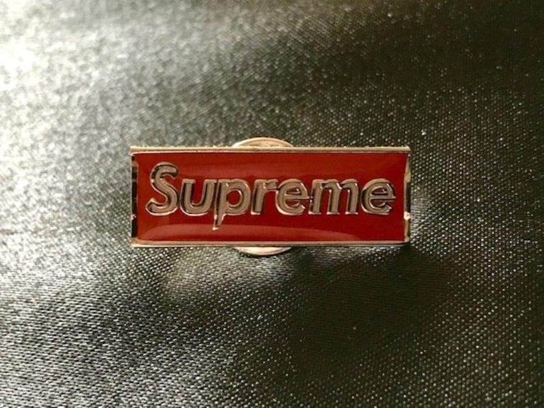 dded070b190 1 Rare A Bathing Ape BAPE x Supreme SUP Logo Lapel Pin
