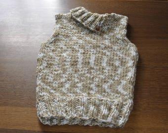 Teen trendy sleeveless sweater