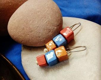 Colored Ceramic Earrings