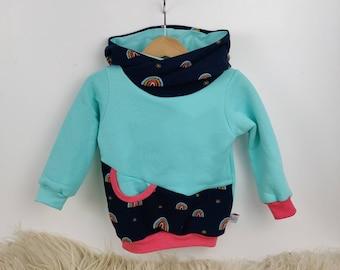 24 months, rainbow pattern hood, hot baby baby hoodie