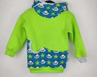 3-year-old hoodie, baby and panda-patterned baby hoodie