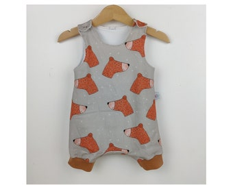 12 months - short-legged bubbler for baby in cotton jersey, Bear pattern