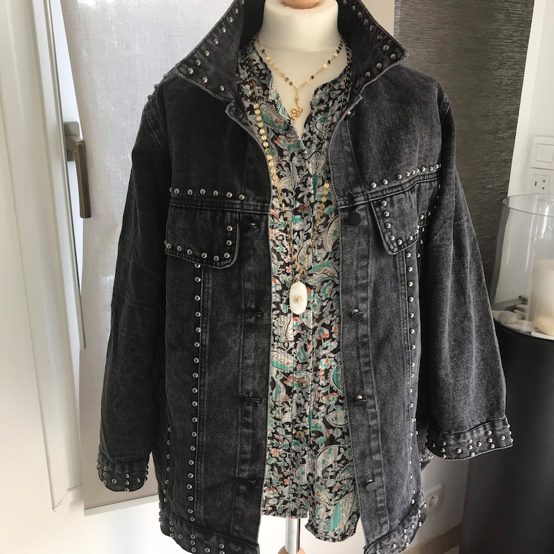 Baya TU grey studded jacket