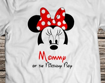 Disney Svg Minnie Mouse Svg Mom of the Birthday Boy Iron On Svg Eps Dxf Pdf Png Jpg AI Files  for Shirt DIGITAL FILE Minnie download