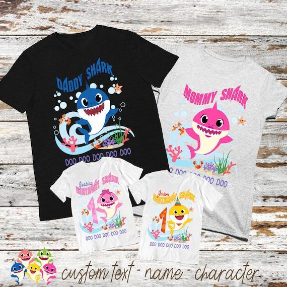 Personalised/'BABY SHARK/'  t-shirt image,photo,logo,boy,girls,kids,gifts,clothes