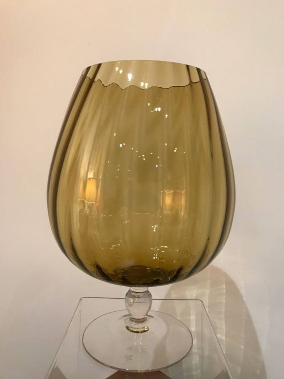 1960 Brandy Glass Vase Etsy