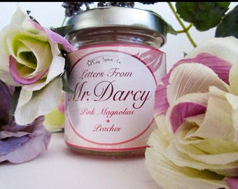 Letters From Mr. Darcy Pride and Prejudice 4 oz Soy Candle