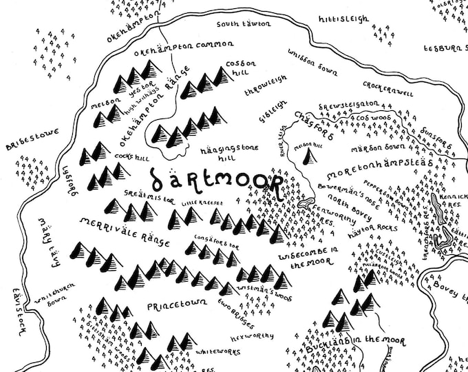 Dartmoor National Park - Giclée Print