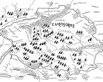 Cairngorms National Park - Bespoke Hand Drawn Map