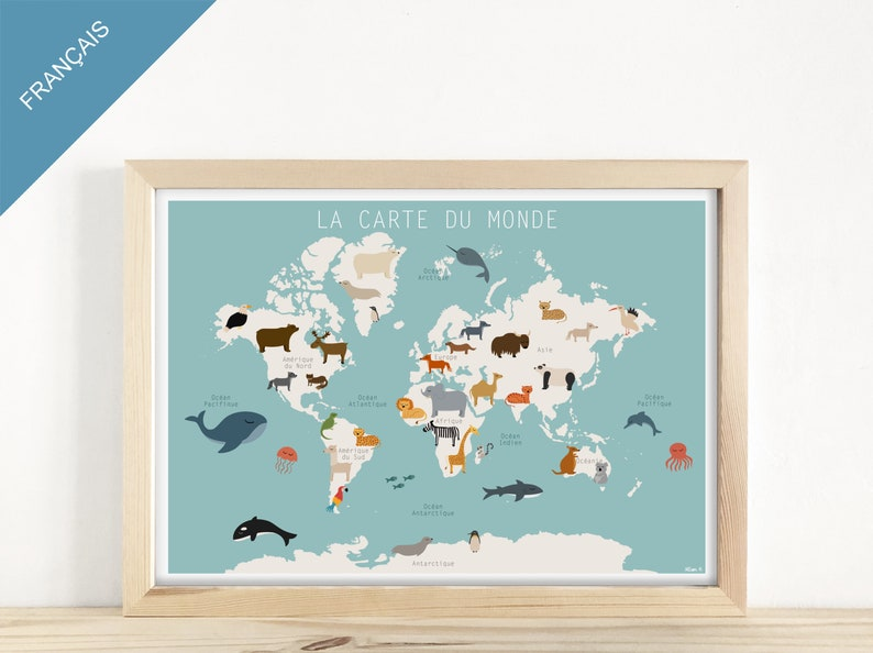 EDUCATIVE AFFICHE  The Map of the World of image 0