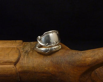 Silver Spiral Spoon Ring 925