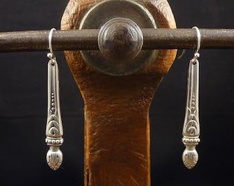 Earrings Russian sleeves in silver metal